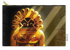 Native American Hawk Spirit Gold Idol Carry-all Pouch