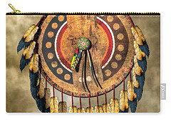 Native American Shield Carry-all Pouch by Daniel Eskridge