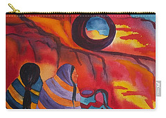 Native Women At Window Rock Square Carry-all Pouch