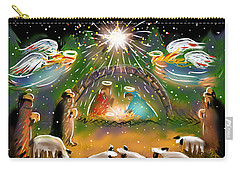 Carry-all Pouch featuring the painting Nativity by Jean Pacheco Ravinski