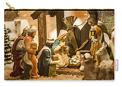 Carry-all Pouch featuring the photograph Nativity Set by Alex Grichenko