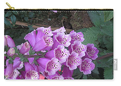 Carry-all Pouch featuring the photograph Natural Bouquet Bunch Of Spiritul Purple Flowers by Navin Joshi