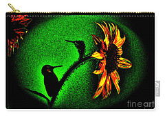 Nature Went On Although The Moon Turned Green Carry-all Pouch by Susanne Still