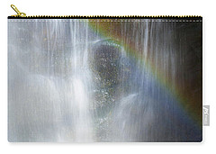 Carry-all Pouch featuring the photograph Natures Rainbow Falls by Jerry Cowart