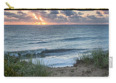 Nauset Light Beach Sunrise Square Carry-all Pouch by Bill Wakeley