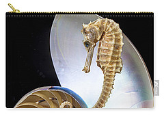 Nautilus With Seahorse Carry-all Pouch
