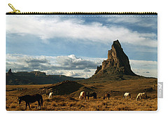 Navajo Horses At El Capitan Carry-all Pouch