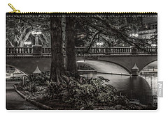 Carry-all Pouch featuring the photograph Navarro Street Bridge At Night by Steven Sparks