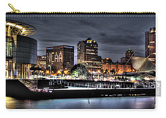 Carry-all Pouch featuring the photograph Ncaa In Lights by Deborah Klubertanz