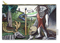 Carry-all Pouch featuring the painting Neander Valley by Ryan Demaree