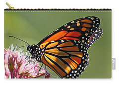 Carry-all Pouch featuring the photograph Nectaring Monarch Butterfly by Debbie Oppermann