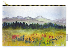 Nek Mountains And Meadows Carry-all Pouch by Donna Walsh