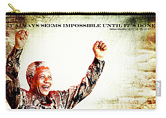 Nelson Mandela Carry-all Pouch by Spikey Mouse Photography