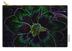 Carry-all Pouch featuring the photograph Neon Glow by Aimee L Maher Photography and Art Visit ALMGallerydotcom