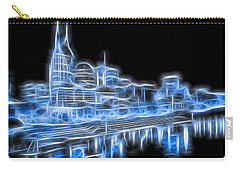 Neon Nashville Skyline Carry-all Pouch by Dan Sproul