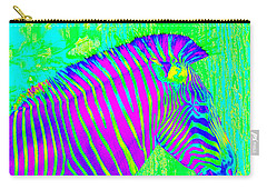 Neon Zebra 2 Carry-all Pouch