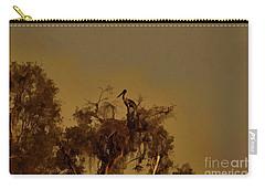 Nesting Jabiru  Carry-all Pouch by Douglas Barnard