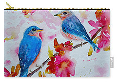 Nesting Pair Carry-all Pouch by Beverley Harper Tinsley