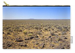 Carry-all Pouch featuring the photograph Nevada Desert Panorama by Mark Greenberg