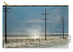 Carry-all Pouch featuring the photograph Nevada Dust Devil by Jayne Wilson