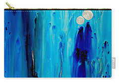Carry-all Pouch featuring the painting Never Alone By Sharon Cummings by Sharon Cummings