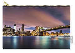 New Dawn Over New York Carry-all Pouch by Mihai Andritoiu
