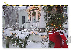 New England Christmas Carry-all Pouch by Elizabeth Dow