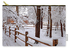New England Winter Carry-all Pouch by Dianne Cowen