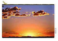 Carry-all Pouch featuring the photograph New Mexico Sunset Glow by Barbara Chichester