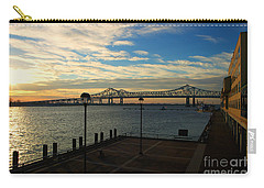 Carry-all Pouch featuring the photograph New Orleans Bridge by Erika Weber