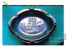 Carry-all Pouch featuring the photograph New Orleans Louisiana Usa King Rex Mardi Gras Favor Circa 1913 by Michael Hoard