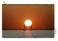 New Orleans Sailing Sun On Lake Pontchartrain Carry-all Pouch by Michael Hoard
