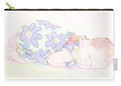 New Photographic Art Print For Sale Baby Girl Carry-all Pouch