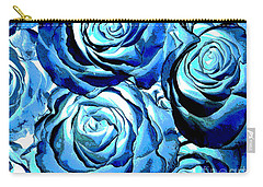 Pop Art Blue Roses Carry-all Pouch