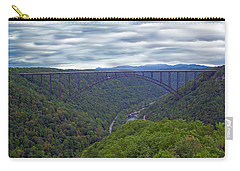 New River Bridge Carry-all Pouch by Aimee L Maher Photography and Art Visit ALMGallerydotcom