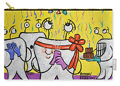 Carry-all Pouch featuring the painting New Tooth by Anthony Falbo