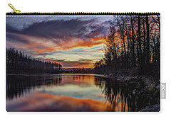 New Years Eve Sunset Carry-all Pouch by Charlie Duncan