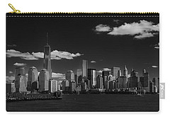 New York 1 Black And White Carry-all Pouch