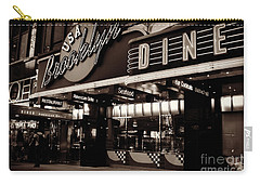 New York At Night - Brooklyn Diner - Sepia Carry-all Pouch