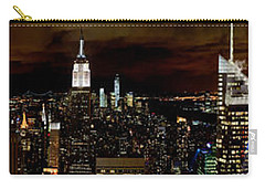 New York At Night Panorama Carry-all Pouch