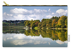 Carry-all Pouch featuring the photograph New York Cincinnatus Lake by Christina Rollo
