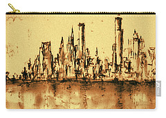 New York City Skyline 79 - Water Color Panorama Carry-all Pouch