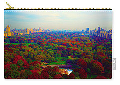 Carry-all Pouch featuring the photograph New York City Central Park South by Tom Jelen