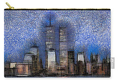 New York City Blue And White Skyline Carry-all Pouch