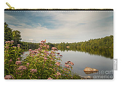 Carry-all Pouch featuring the photograph New York Lake by Debbie Green