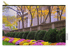 Carry-all Pouch featuring the photograph New York Public Library by Dora Sofia Caputo Photographic Art and Design
