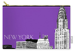 New York Skyline Chrysler Building - Purple Carry-all Pouch
