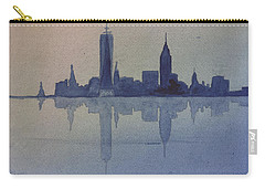 New York Skyline  Carry-all Pouch by Donna Walsh