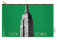 New York Skyline Empire State Building - Forest Green Carry-all Pouch
