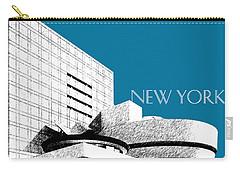 New York Skyline Guggenheim Art Museum - Steel Blue Carry-all Pouch